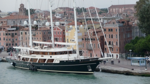 yacht along the Grand Canal